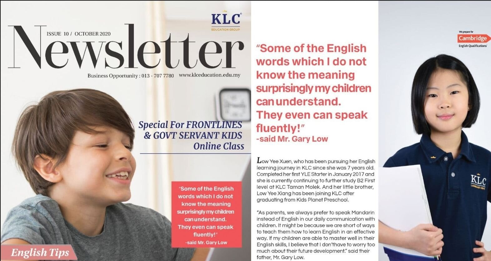 KLC Newsletter October 2020