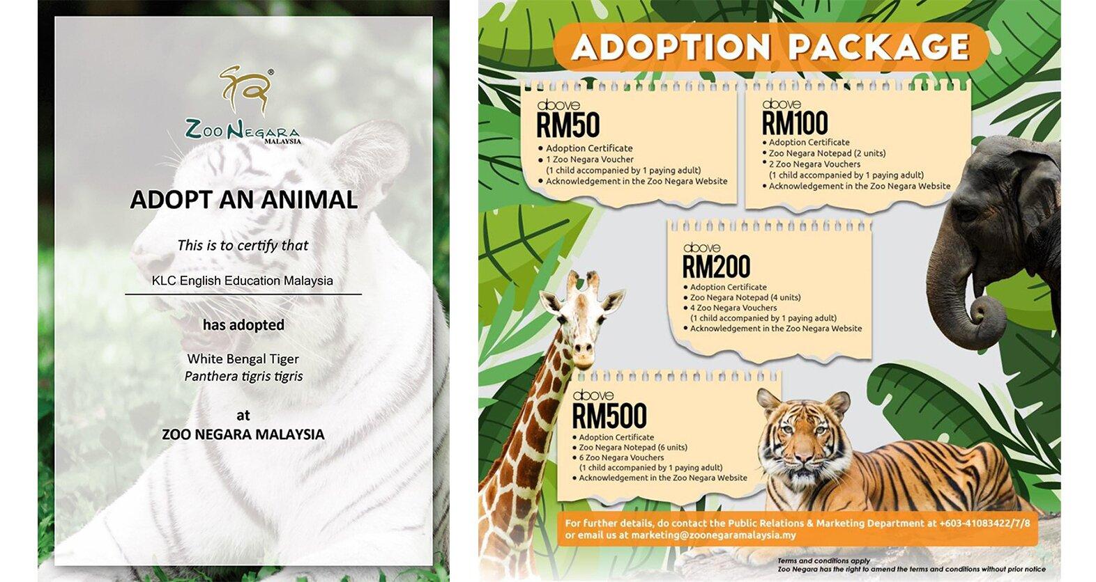 KLC Sertai Kempen Haiwan Angkat Zoo Negara