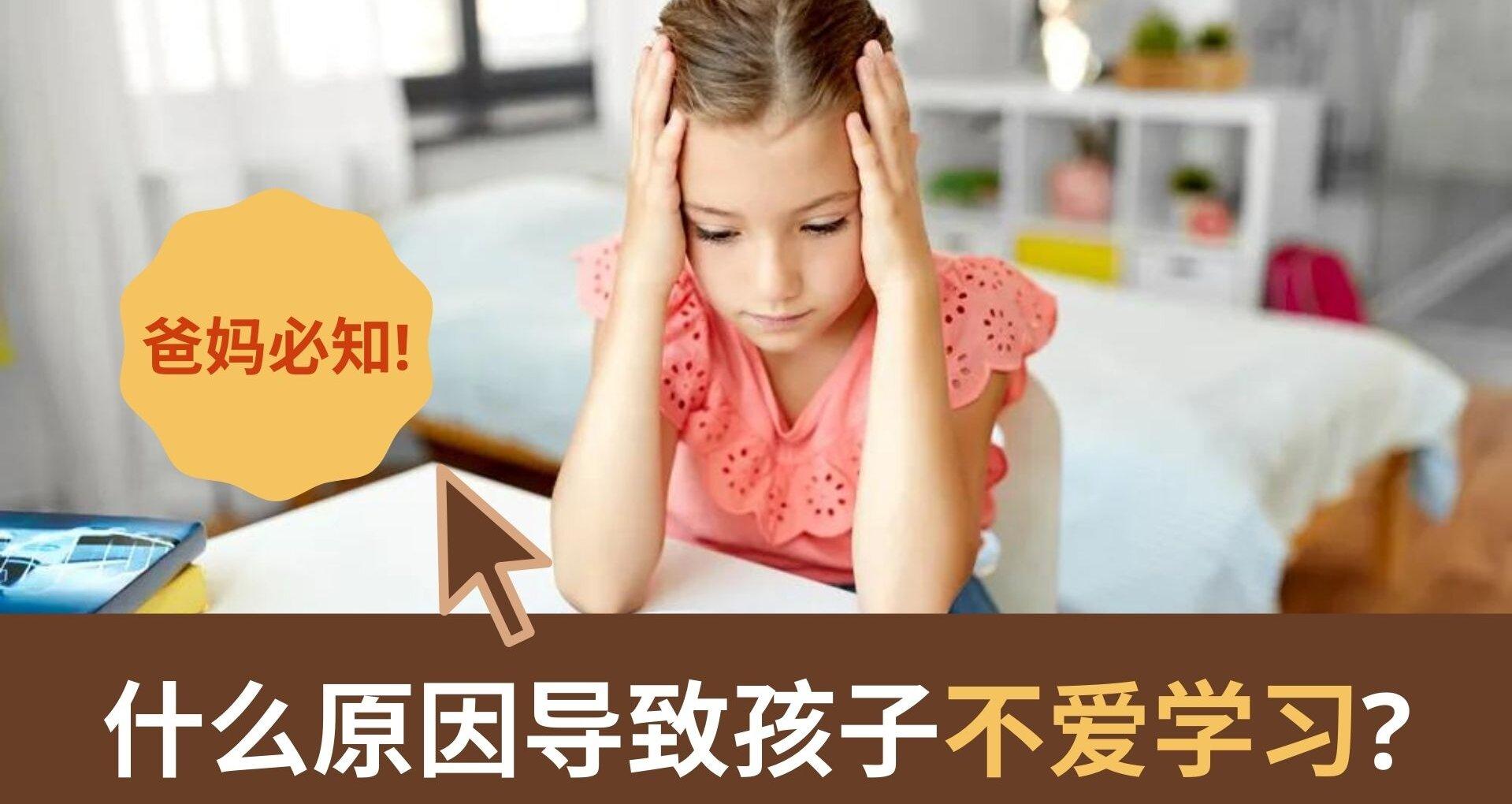 【什么原因导致孩子不爱学习】