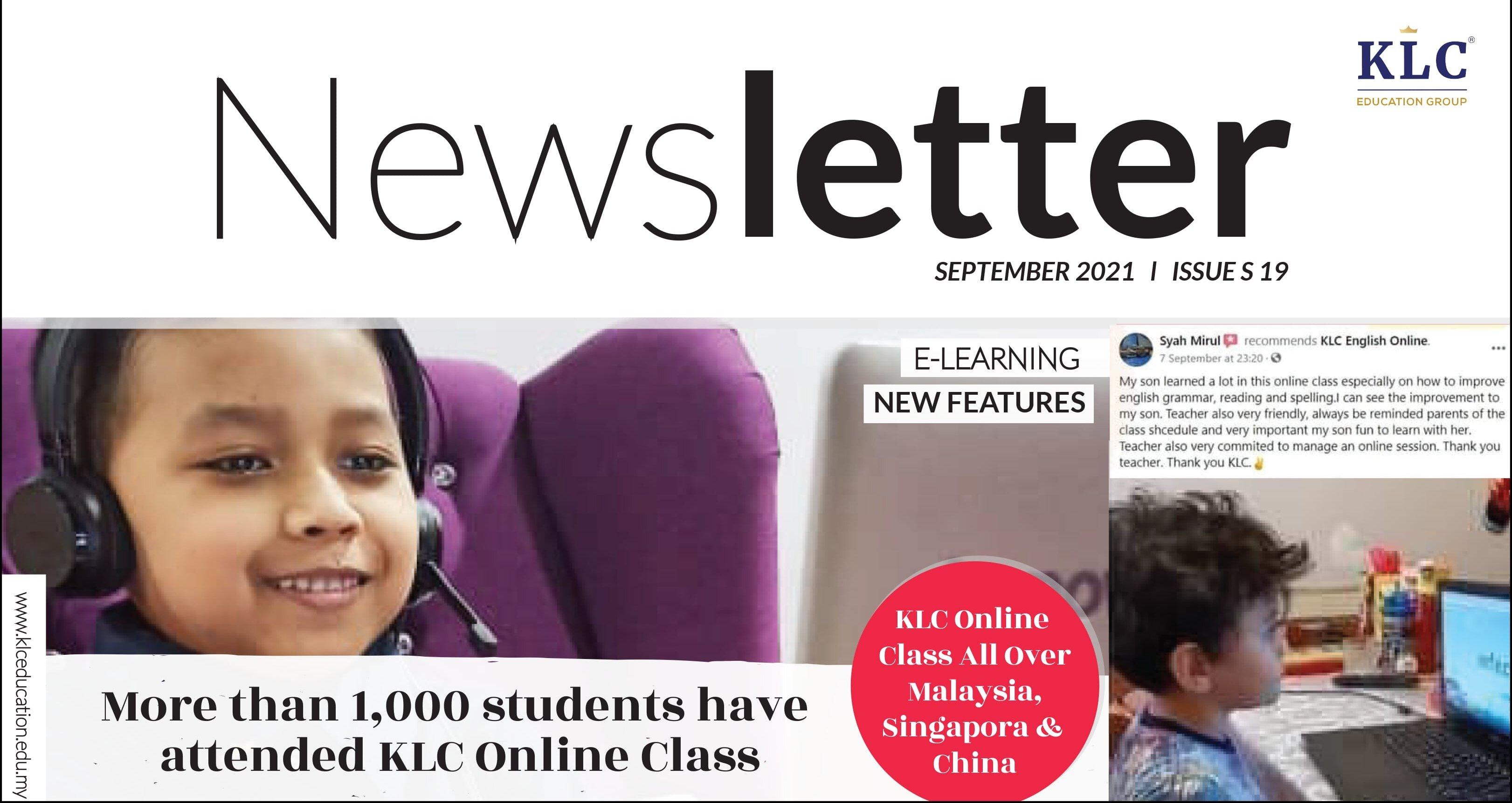 KLC Newsletter September 2021